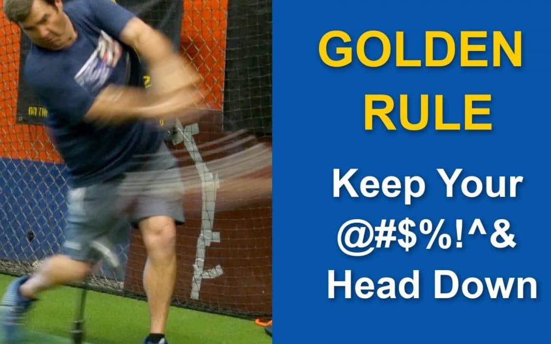 How To Keep Head Down – Baseball Hitting Drills