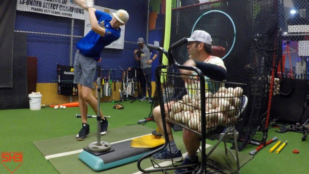 leg swing extend after contact