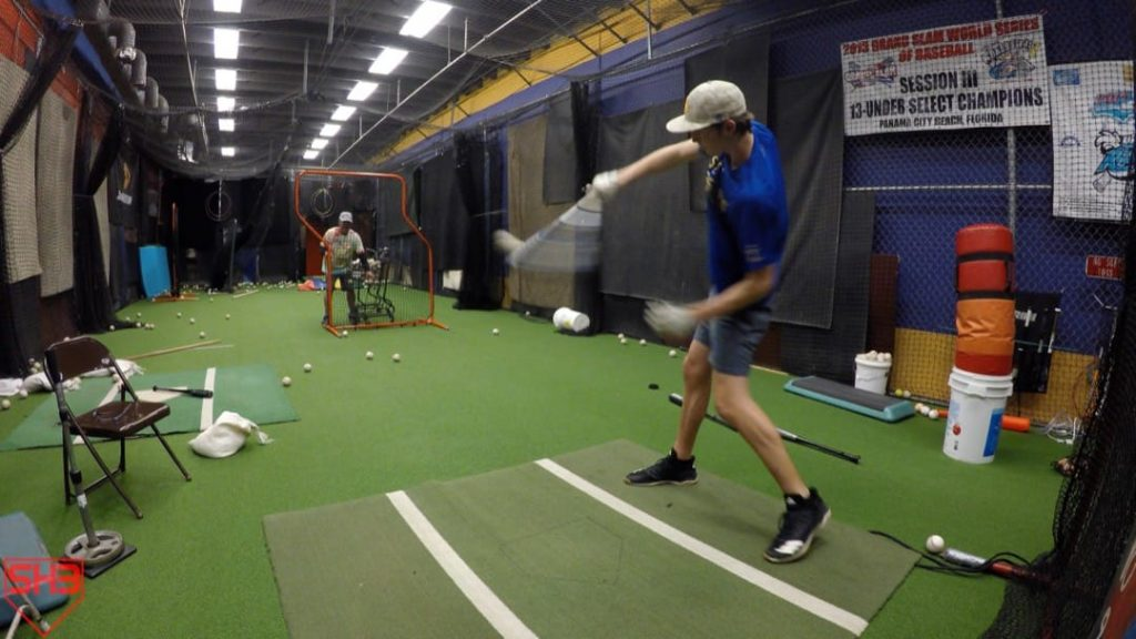 One hand front toss drill
