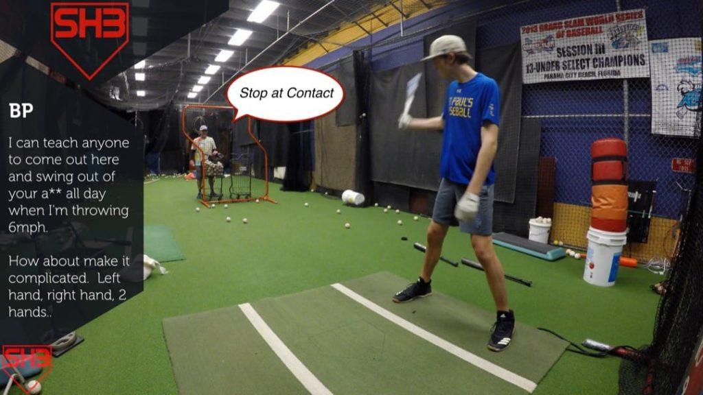 stop at contact hitting drill