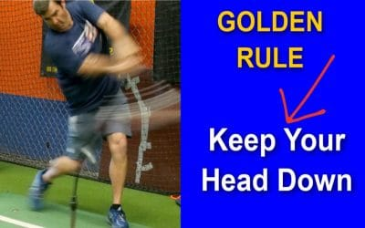 Baseball Swing Mechanics: Keep Your Head Down