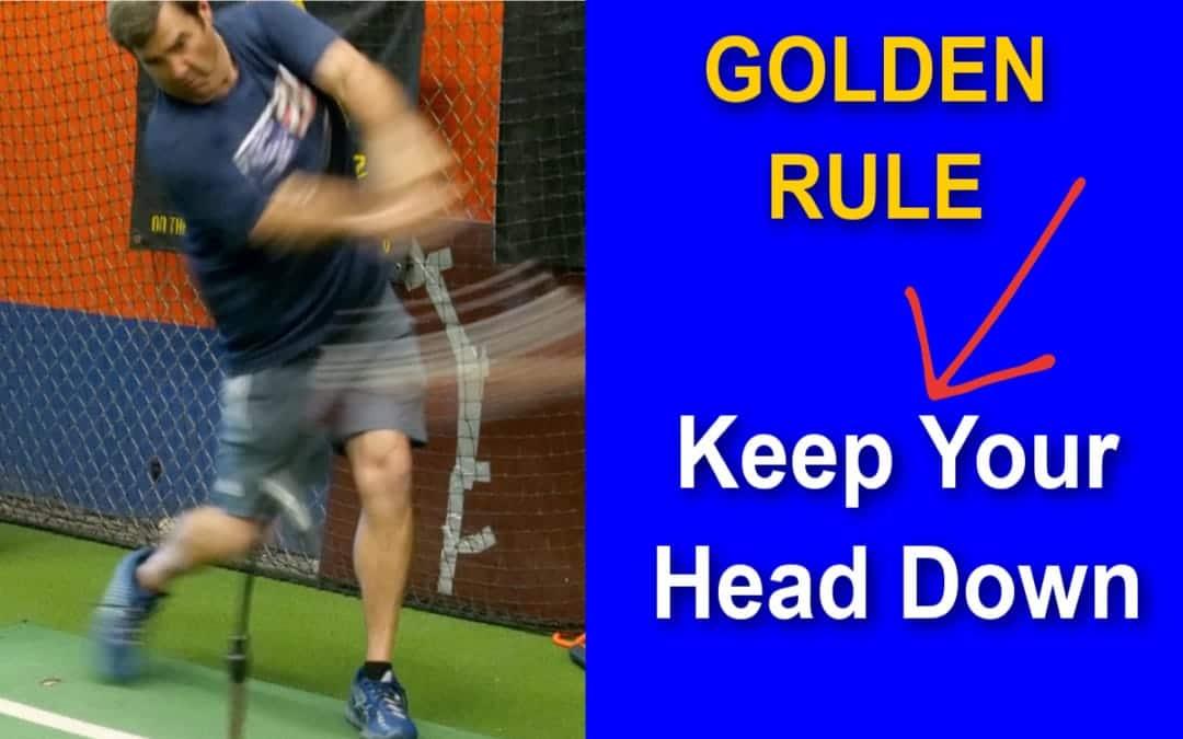 How to Keep Your Head Down - Baseball Hitting Mechanics