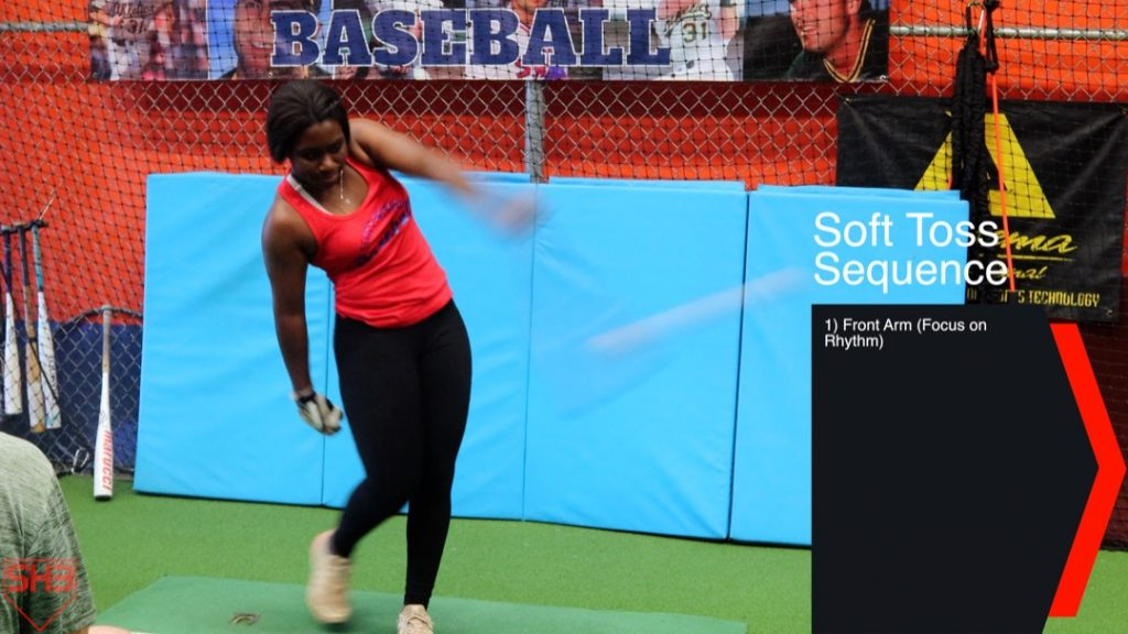 One Arm Soft Toss Drill