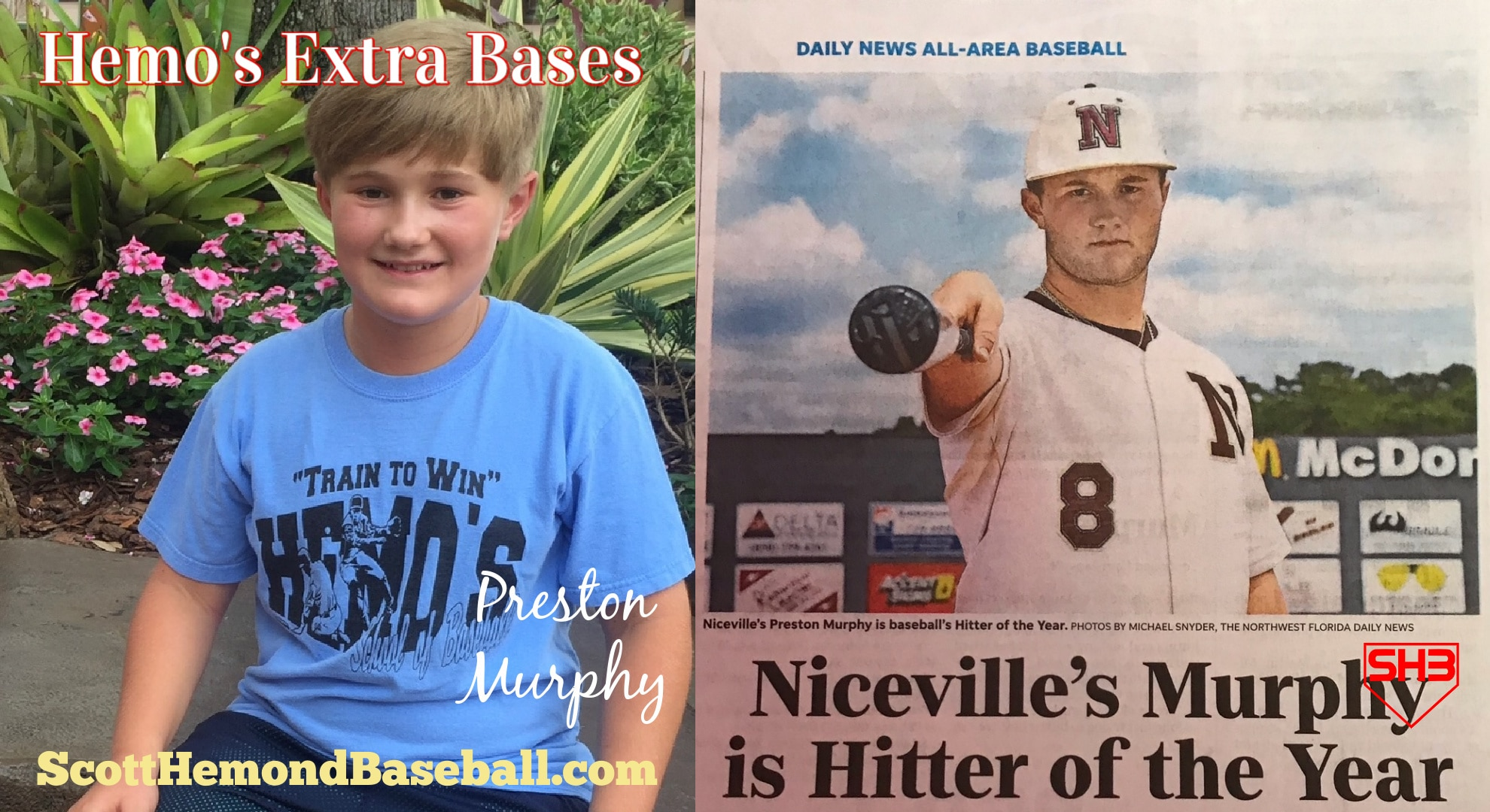 Preston Murphy Scott Hemond Baseball