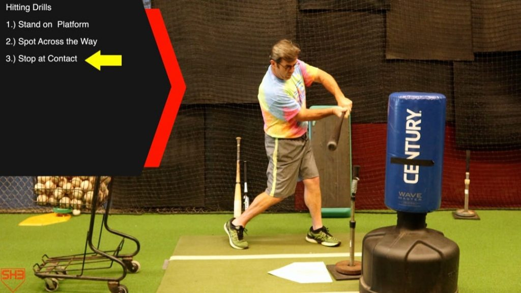 stop at contact hitting drills to stay connected