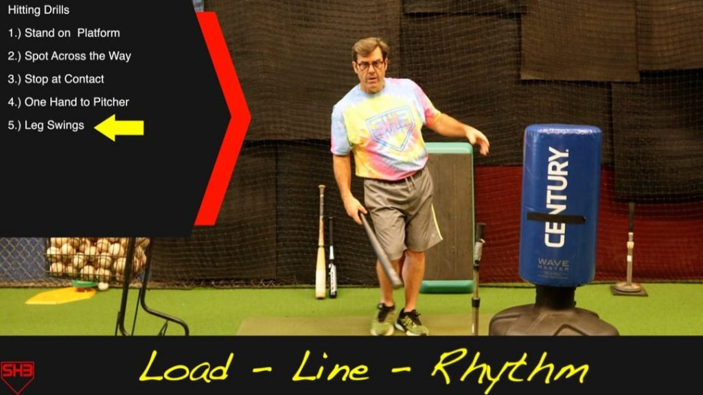 leg swings hitting drills to stay connected