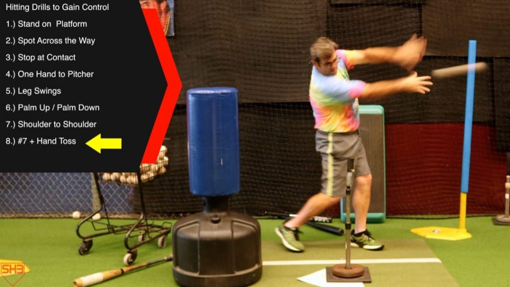 hand toss hitting drills to stay connected