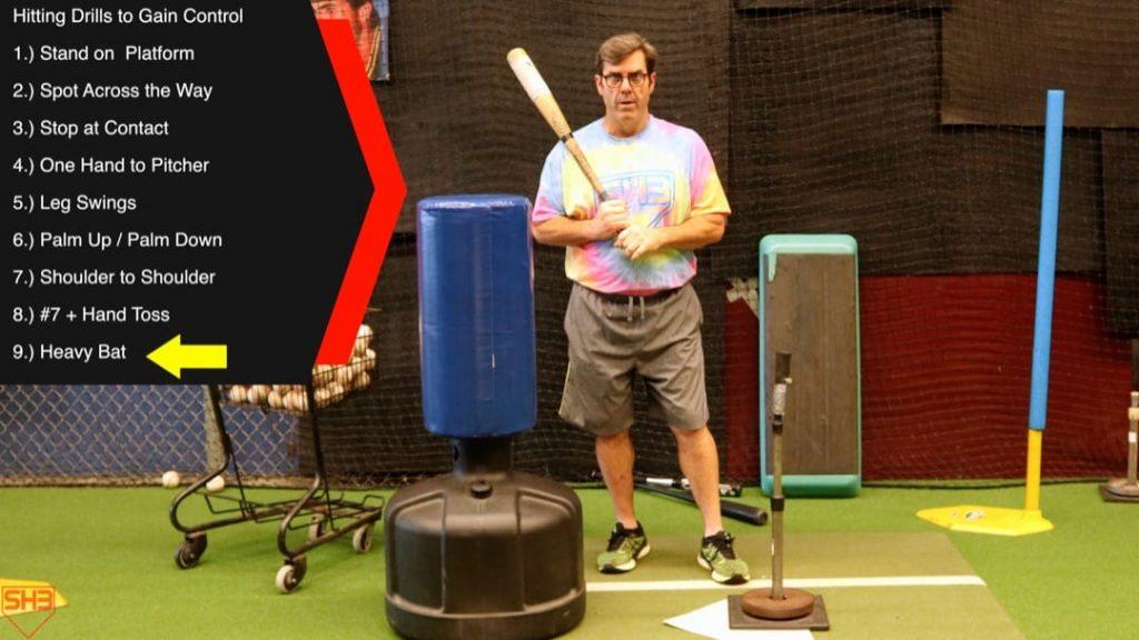 hitting drill use heavy bat